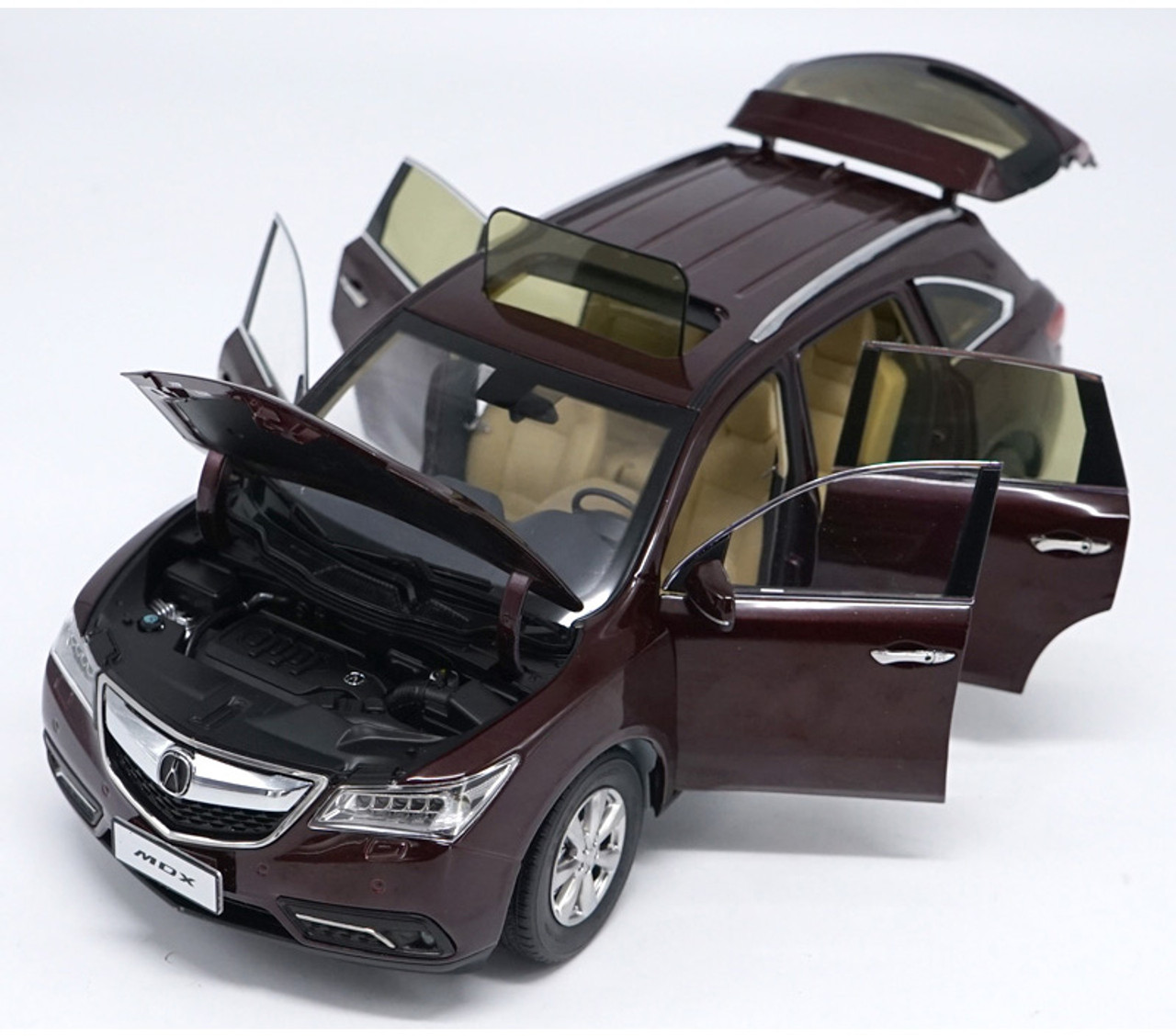 1/18 Dealer Edition 2015 Acura MDX (Red) Diecast Car Model