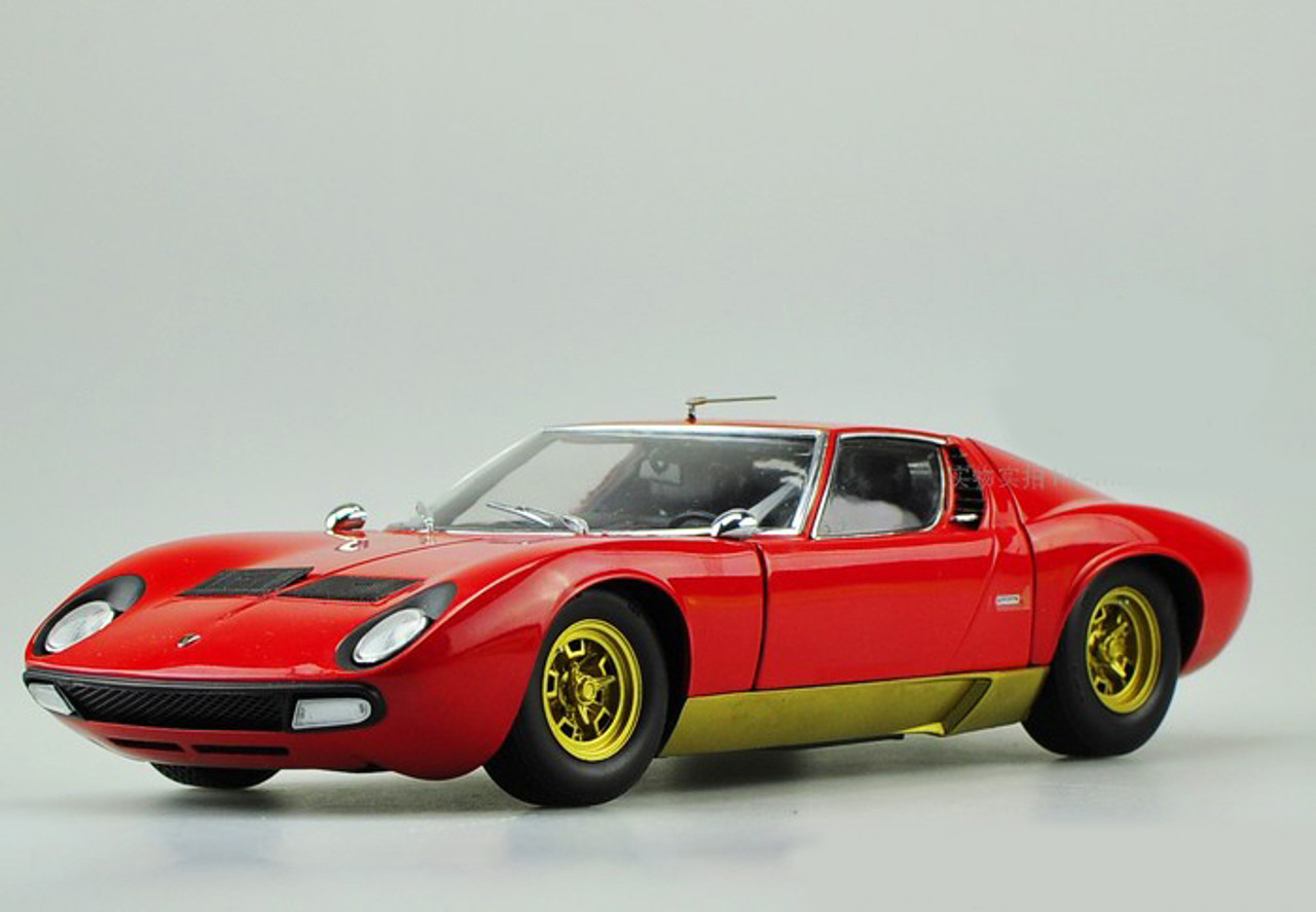1 18 Kyosho Lamborghini Miura P400 Sv Red Diecast Car Model