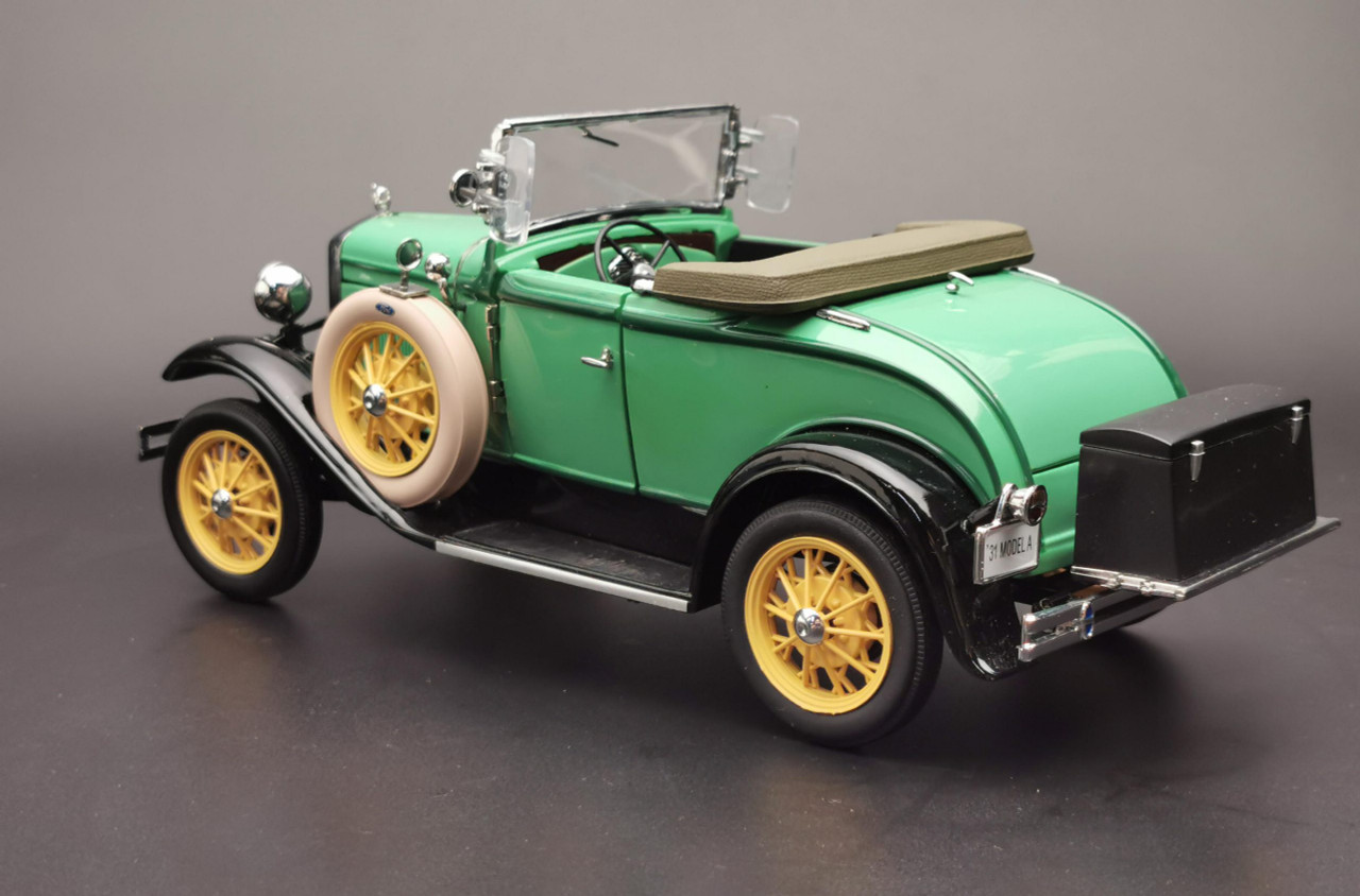 1 18 1931 Ford Model A Roadster Reseda Green Diecast Car Model Livecarmodel Com