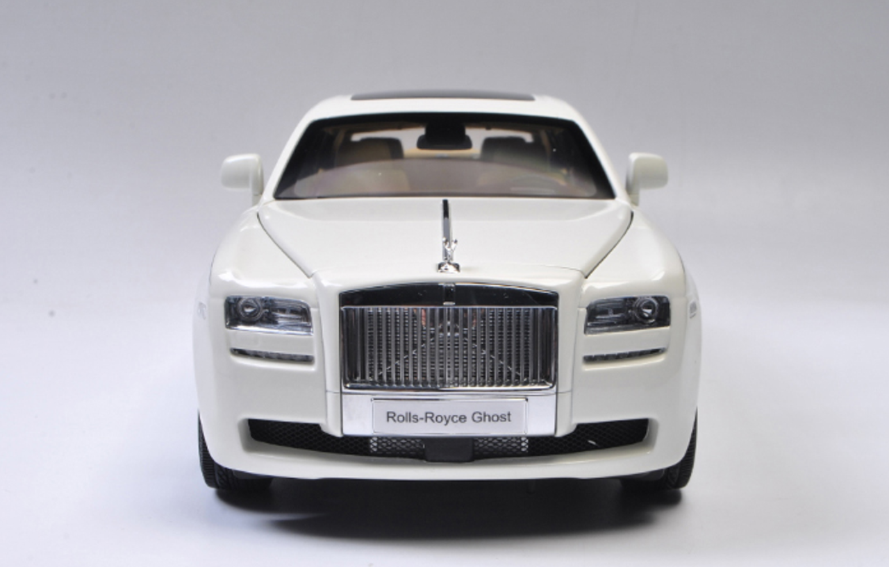 1 18 Kyosho Rolls Royce Ghost White W Brown Interior Diecast Car Model Livecarmodel Com