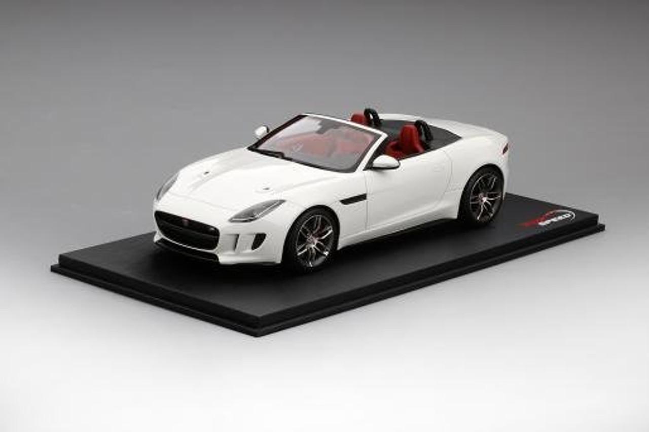 1 18 Top Speed Jaguar F Type Ftype R White Resin Model