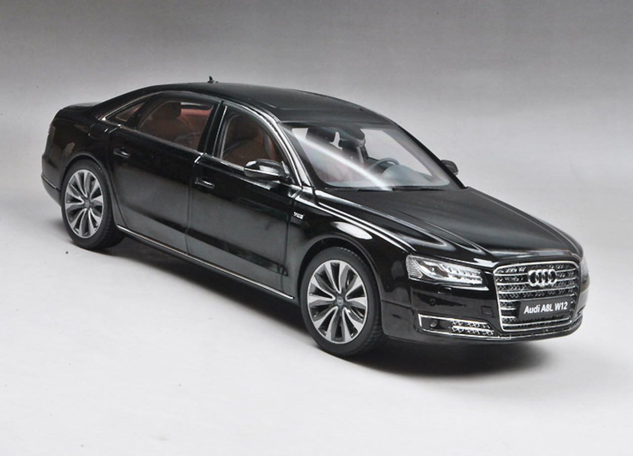 1 18 Kyosho 2014 Audi A8 A8l W12 Black Diecast Car Model