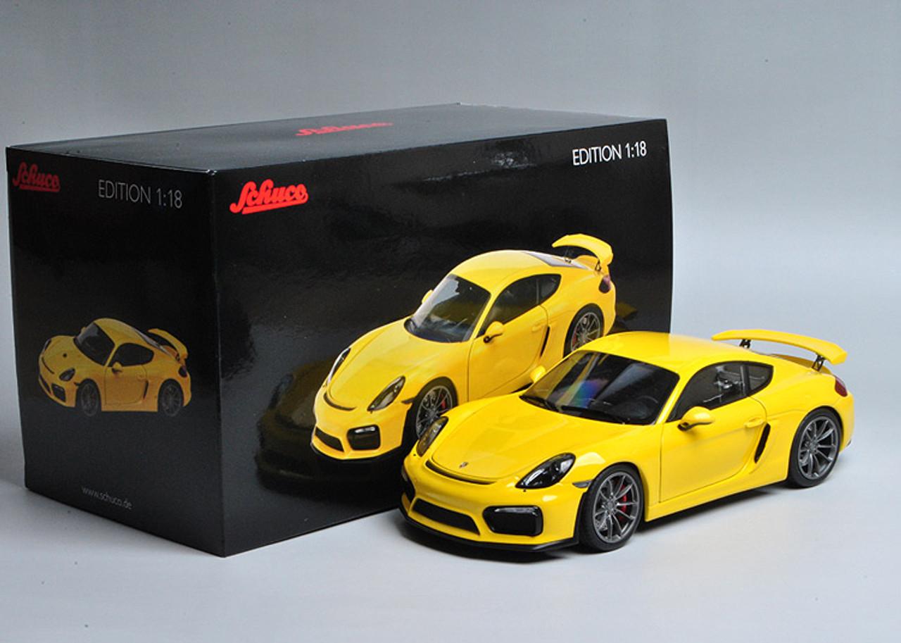 Porsche Cayman gt4 negro 1:18 Schuco nuevo /& OVP 450040100
