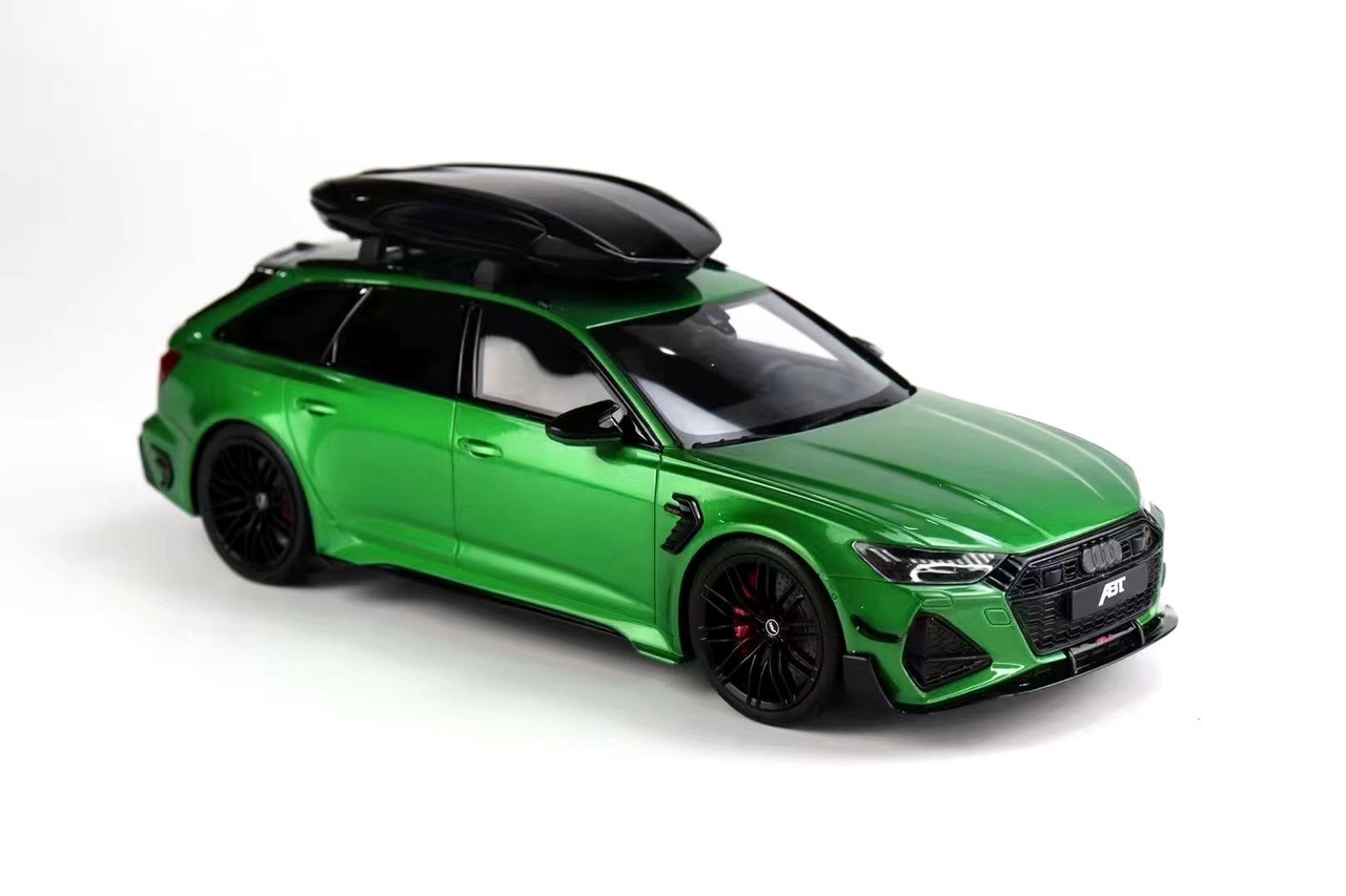 1/18 GT Spirit 2020 2021 Audi RS6 C8 RS6-R RS6R ABT (Green) with Luggage Resin Car Model Limited 666 Pieces