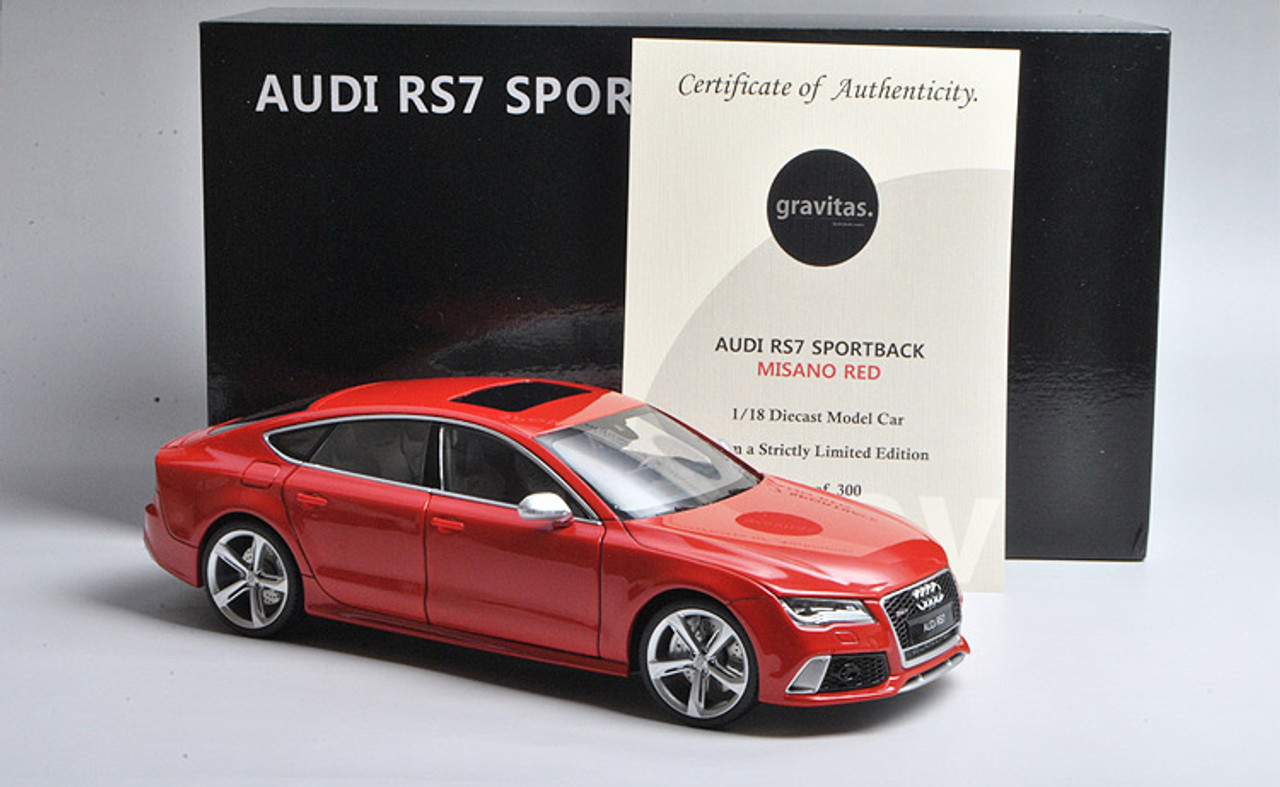 1 18 Minicraft Audi Rs7 Sportback Misano Red Limited 300