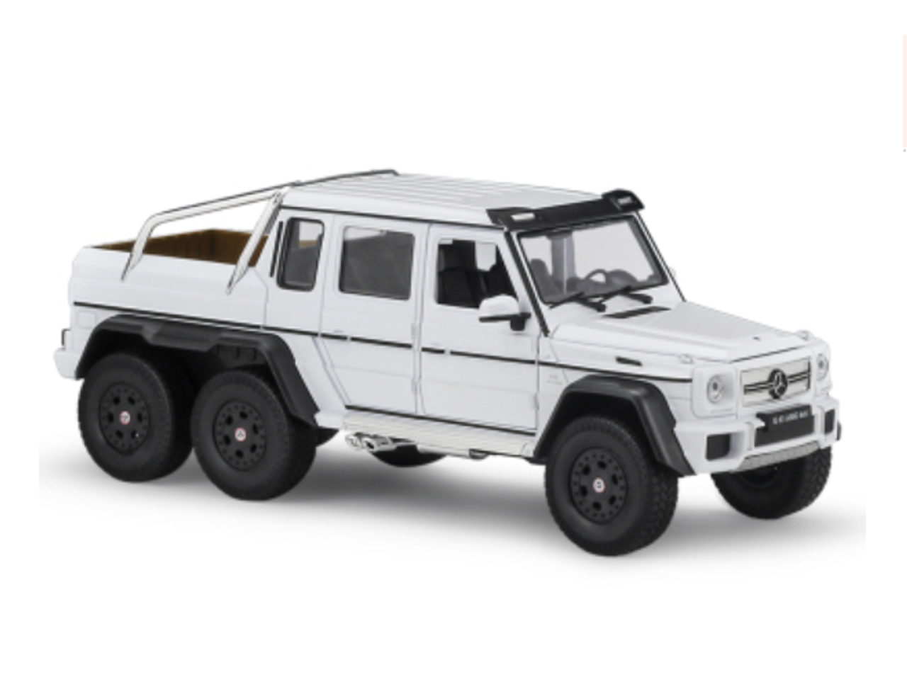 1 24 Welly Fx Mercedes Benz G63 Amg 6x6 White Diecast Model Livecarmodel Com