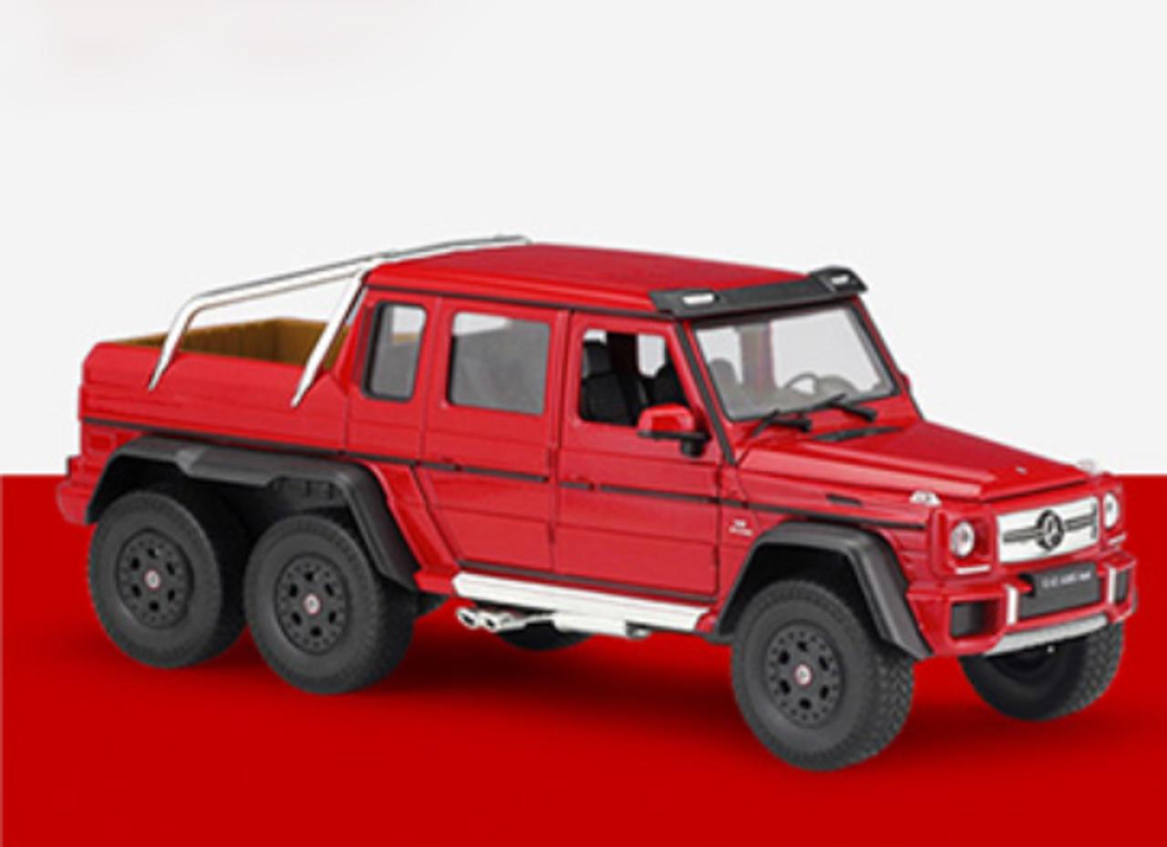 1 24 Welly Fx Mercedes Benz G63 Amg 6x6 Red Diecast Model Livecarmodel Com