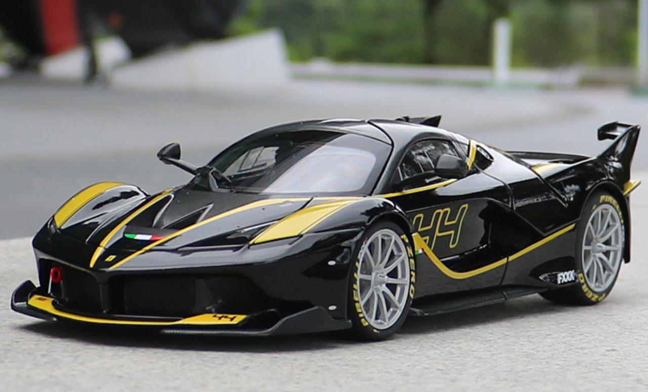 1 18 Bburago Signature Series Ferrari Laferrari Fxxk Evo 44 Black Diecast Model Livecarmodel Com
