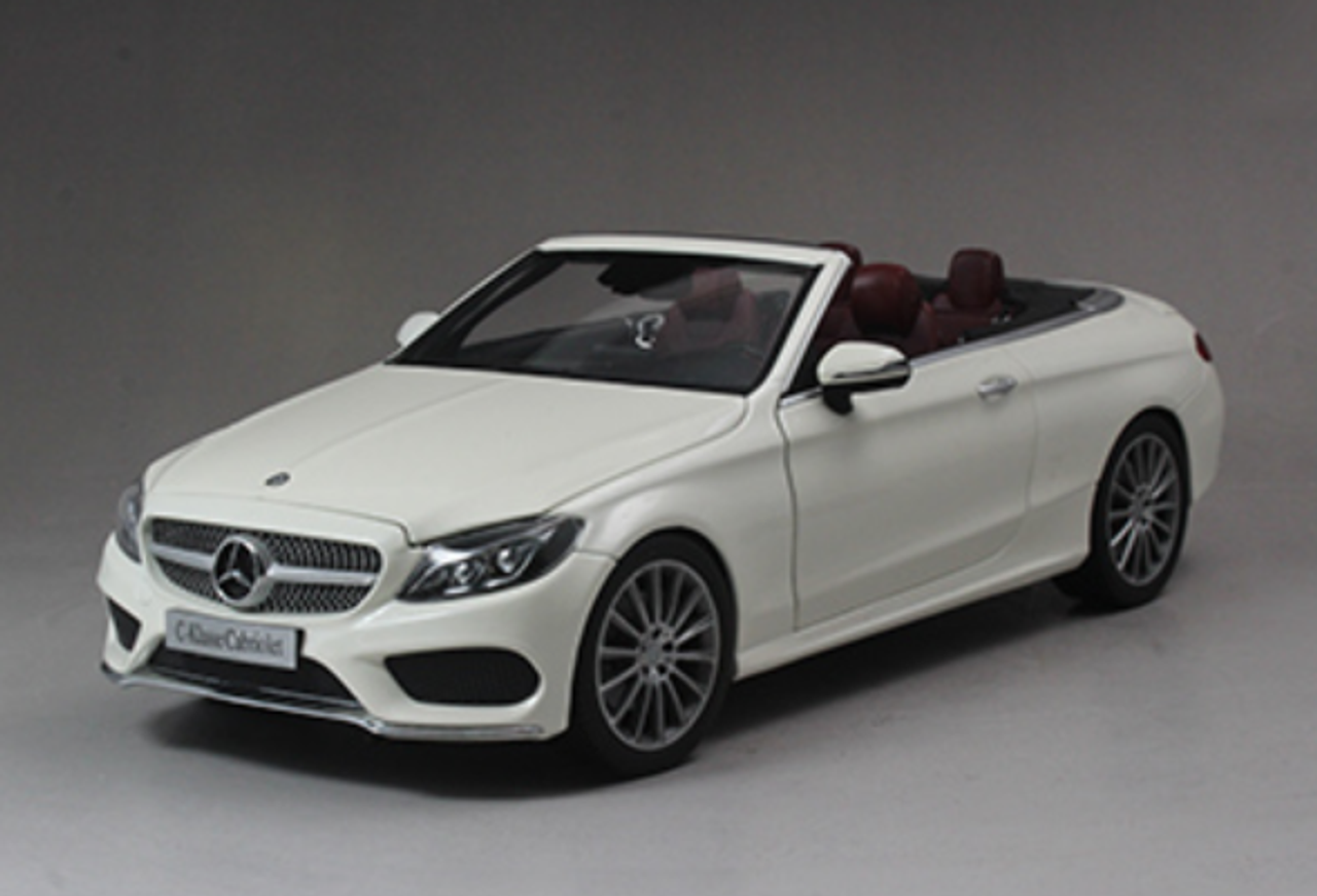 1 18 Dealer Edition Mercedes Benz C Class Coupe C Klasse Cabriolet White Diecast Model Livecarmodel Com