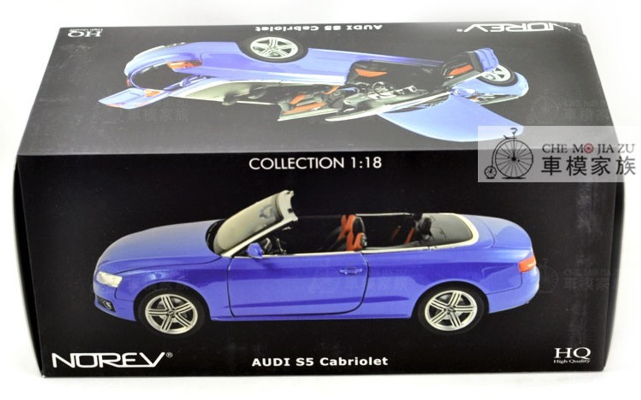 1/18 Norev Audi S5 Convertible (Blue) Diecast Car Model