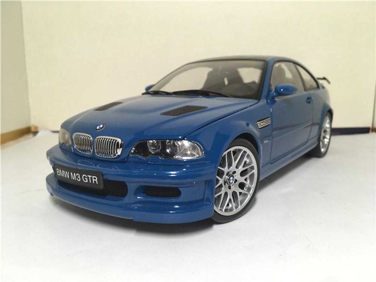 Rare 1 18 Kyosho Bmw E46 M3 Gtr Blue Diecast Model
