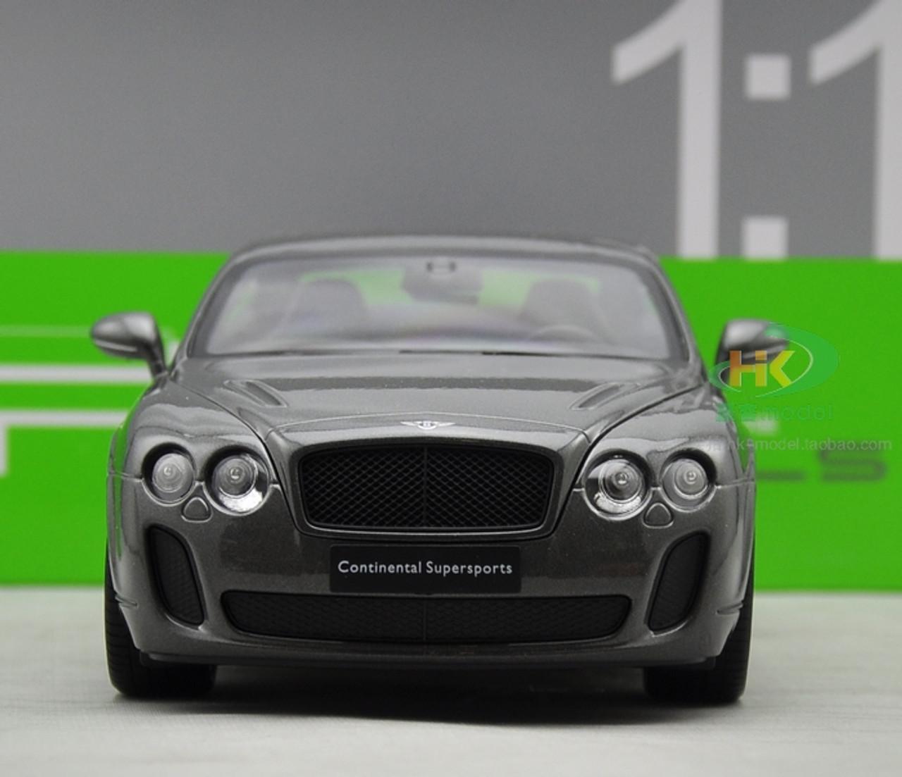 1 18 Welly Fx Bentley Continental Gt Supersports Grey Diecast Car Model Livecarmodel Com