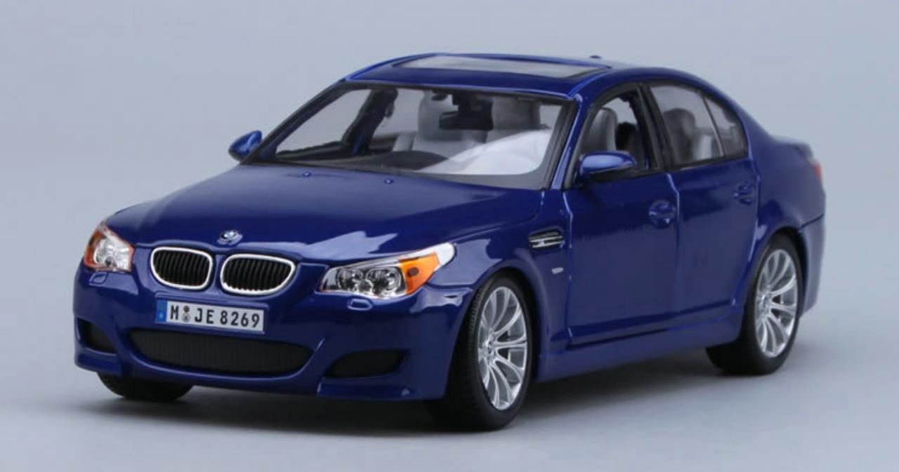 1 18 Maisto Bmw M5 E60 Blue Diecast Model Livecarmodel Com
