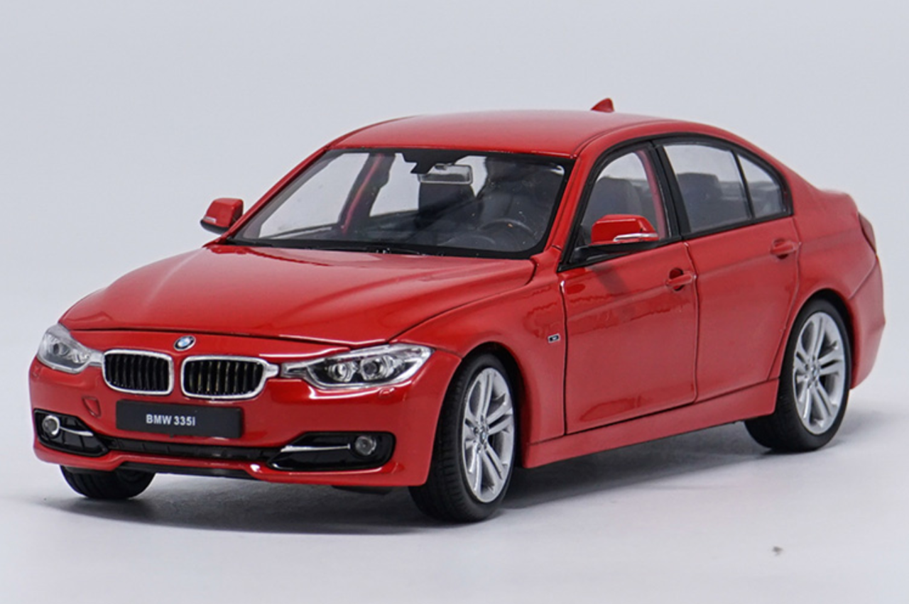 1 24 Welly Fx Bmw F30 3 Series 335i Red Diecast Model