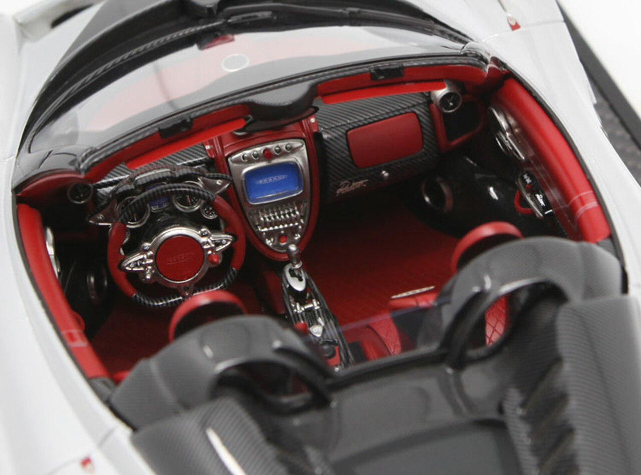 1/12 BBR Pagani Huayra Roadster (Silver w/ Black Rims) Limited 20 Resin Car Model