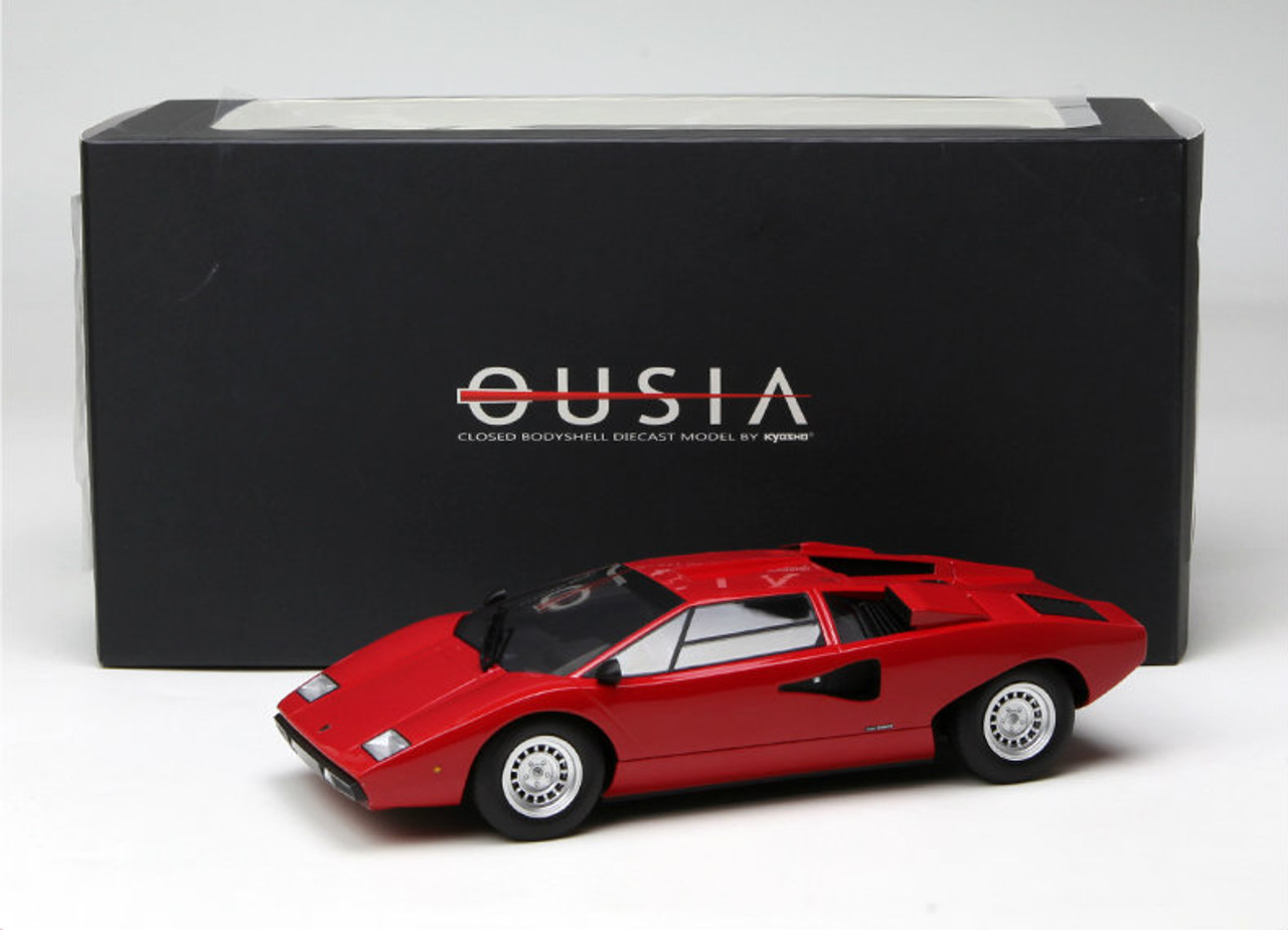 1 18 Kyosho Ousia Lamborghini Countach Lp400 Black Enclosed