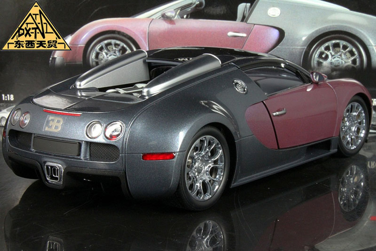 1/18 Minichamps 2009 Bugatti Veyron 16.4 (GRAY / LILA) Diecast Car Model