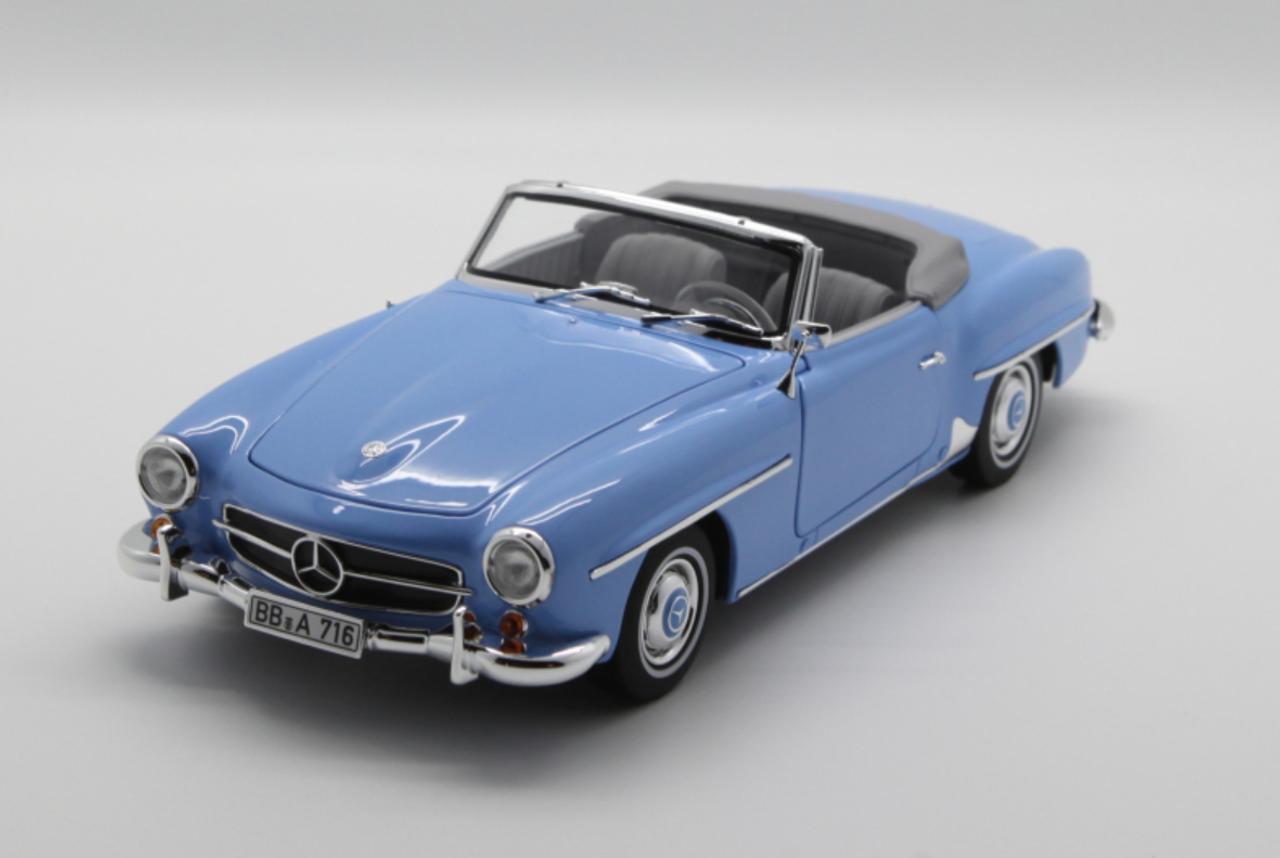 1 18 Norev Mercedes Benz Mb 190 Sl 190sl Convertible Blue Diecast Car Model Livecarmodel Com