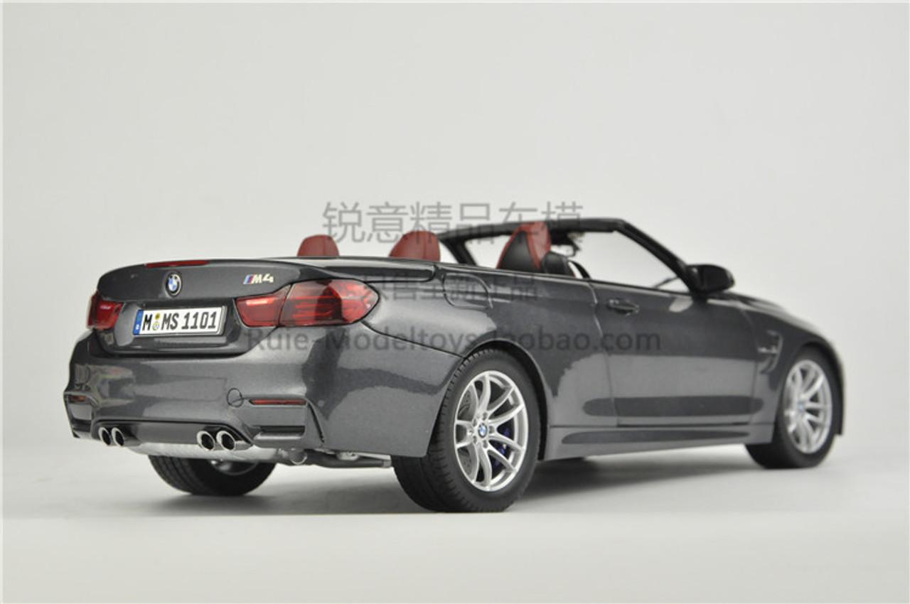 1/18 Dealer Edition BMW M4 F83 Convertible (Grey) Diecast Car Model