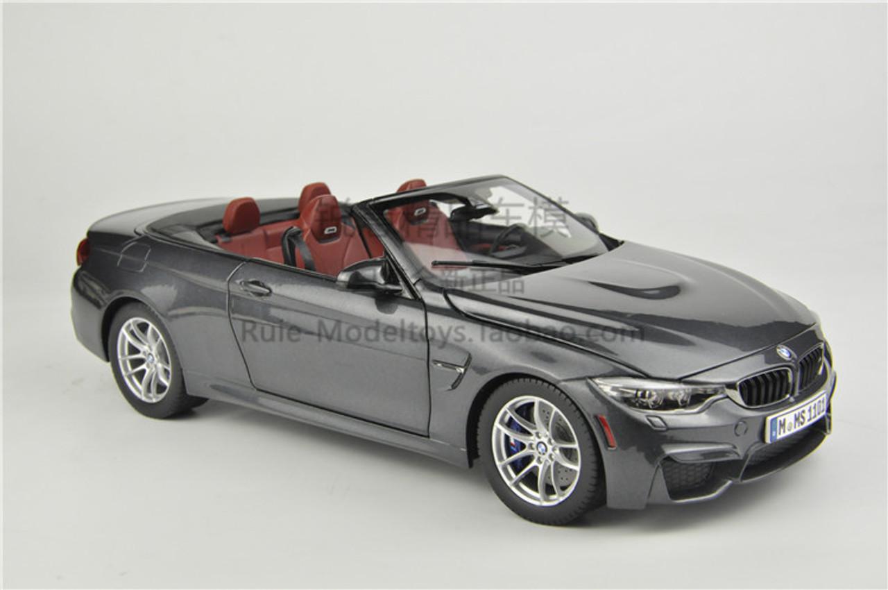 /'Street Fire/' Model Scale 1:43 Burago Grey - Cabrio BMW M4