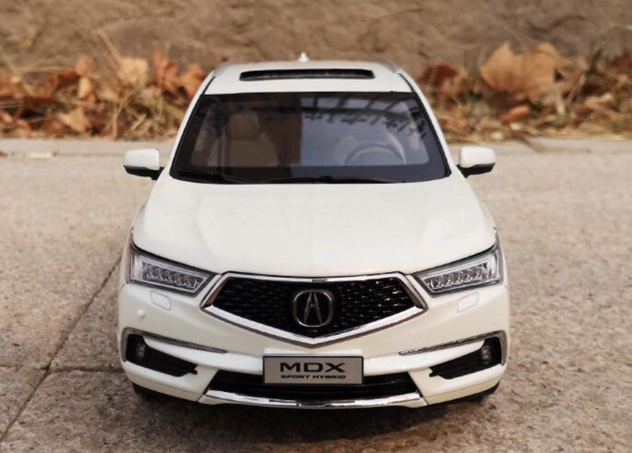 1 18 Dealer Edition 2018 Acura Mdx White Diecast Car Model Livecarmodel Com