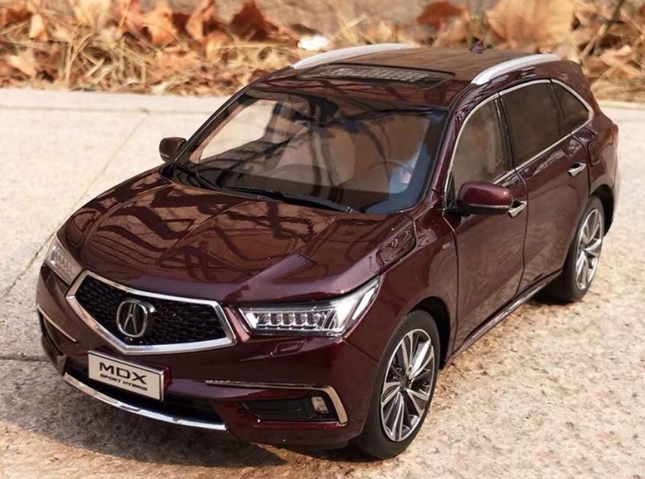 1 18 Dealer Edition 2018 Acura Mdx Wine Red Diecast Car Model Livecarmodel Com