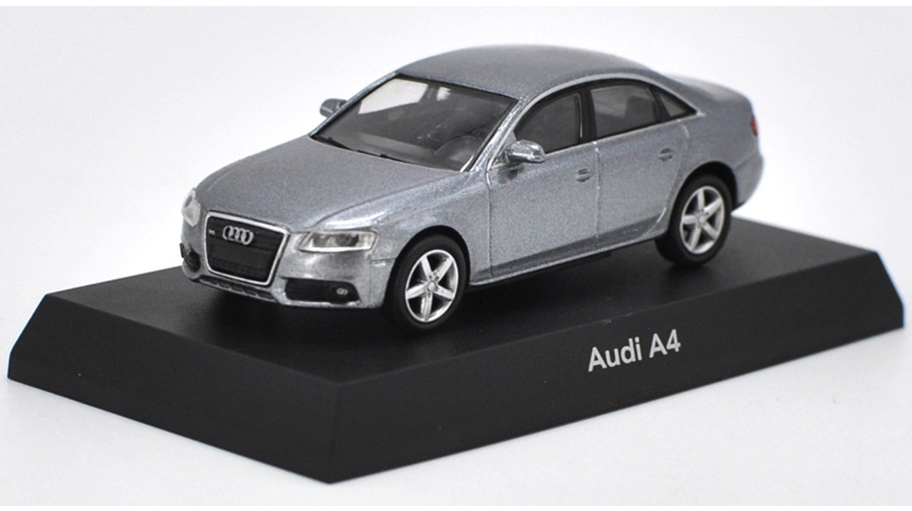 1/64 Kyosho Audi A4 (Grey) Diecast Car Model
