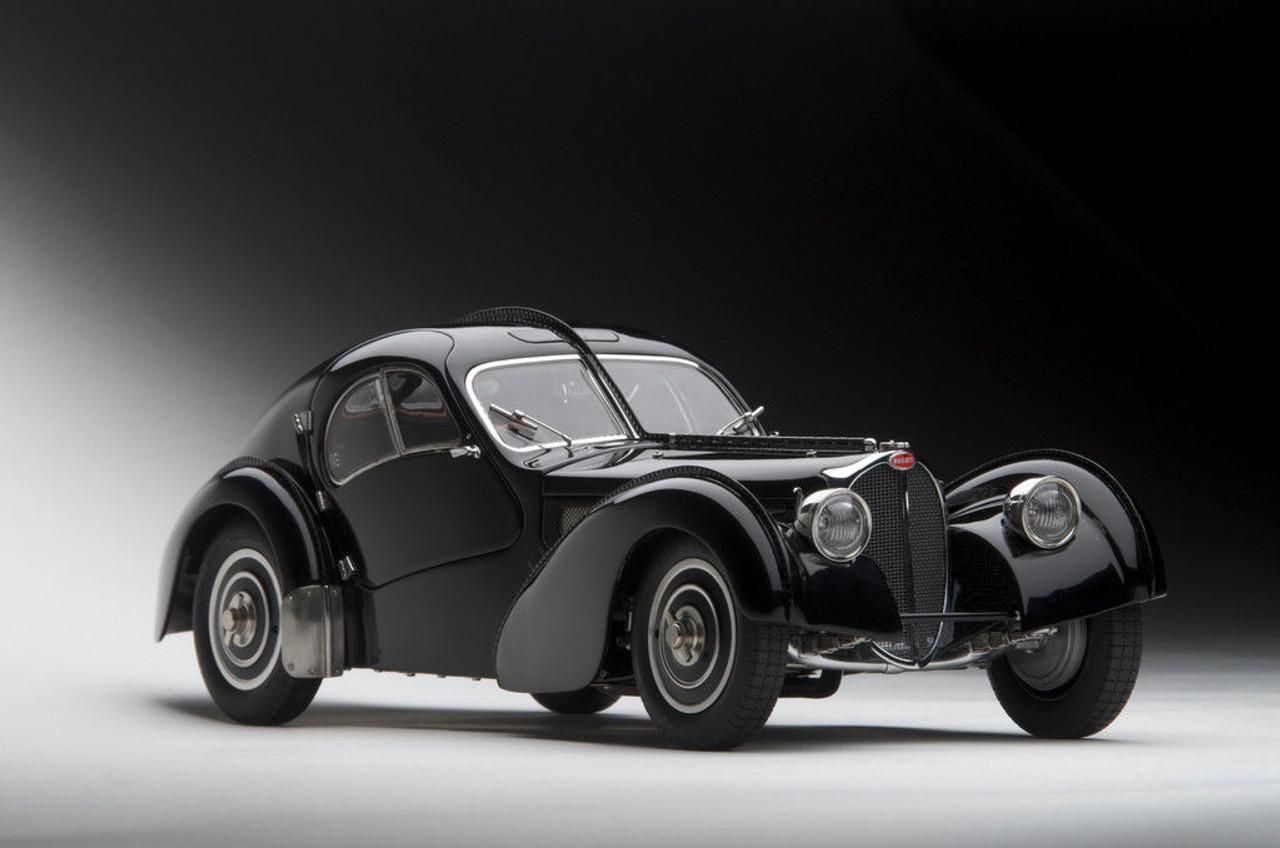 1 18 Autoart Bugatti Coupe Atlantic Type 57 Sc 57sc 1938 Schwarz Black Diecast Car Model Livecarmodel Com