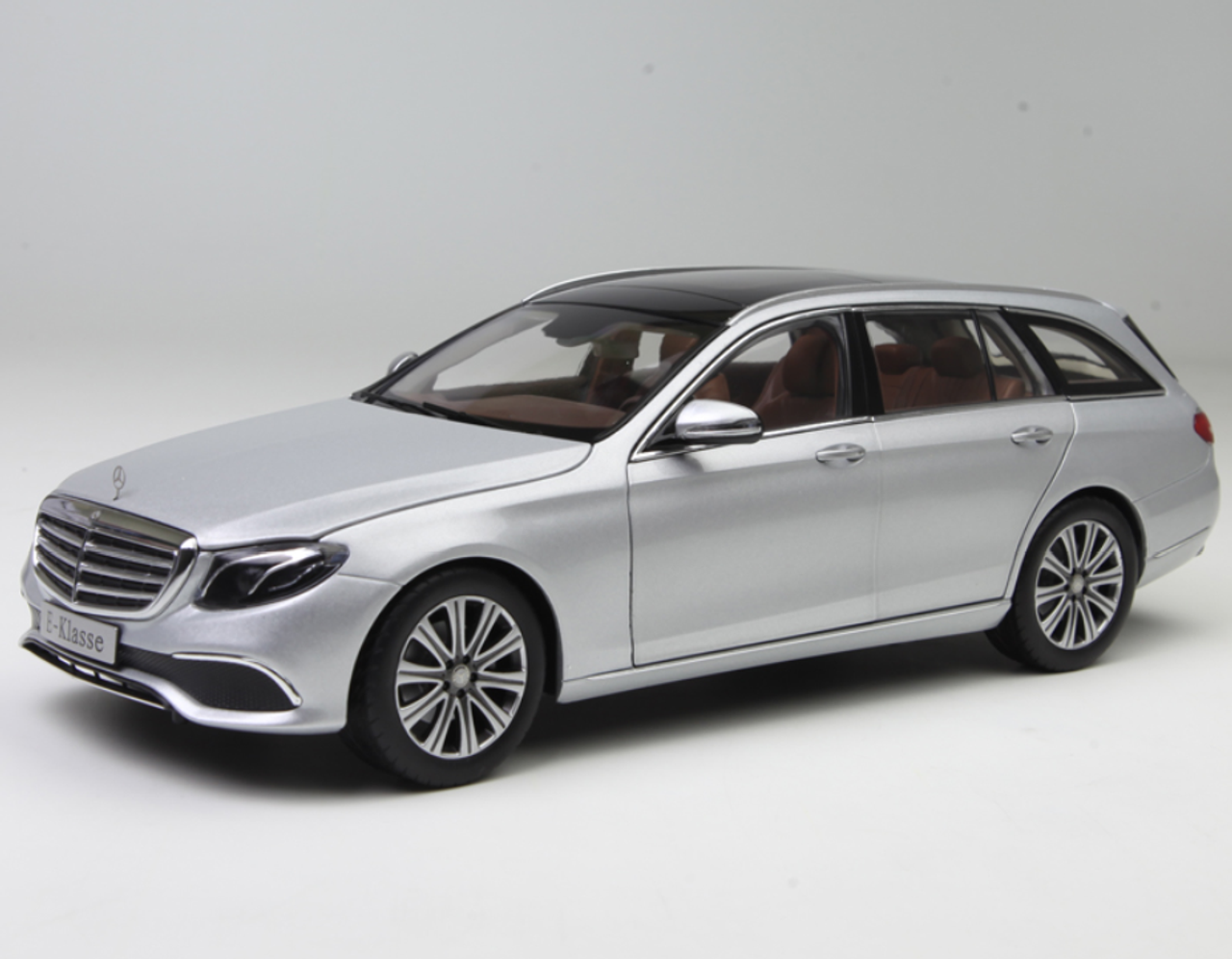 1//18 iScale Daimler Mercedes Benz E Class Klasse Diecast Model Car Gift Silver