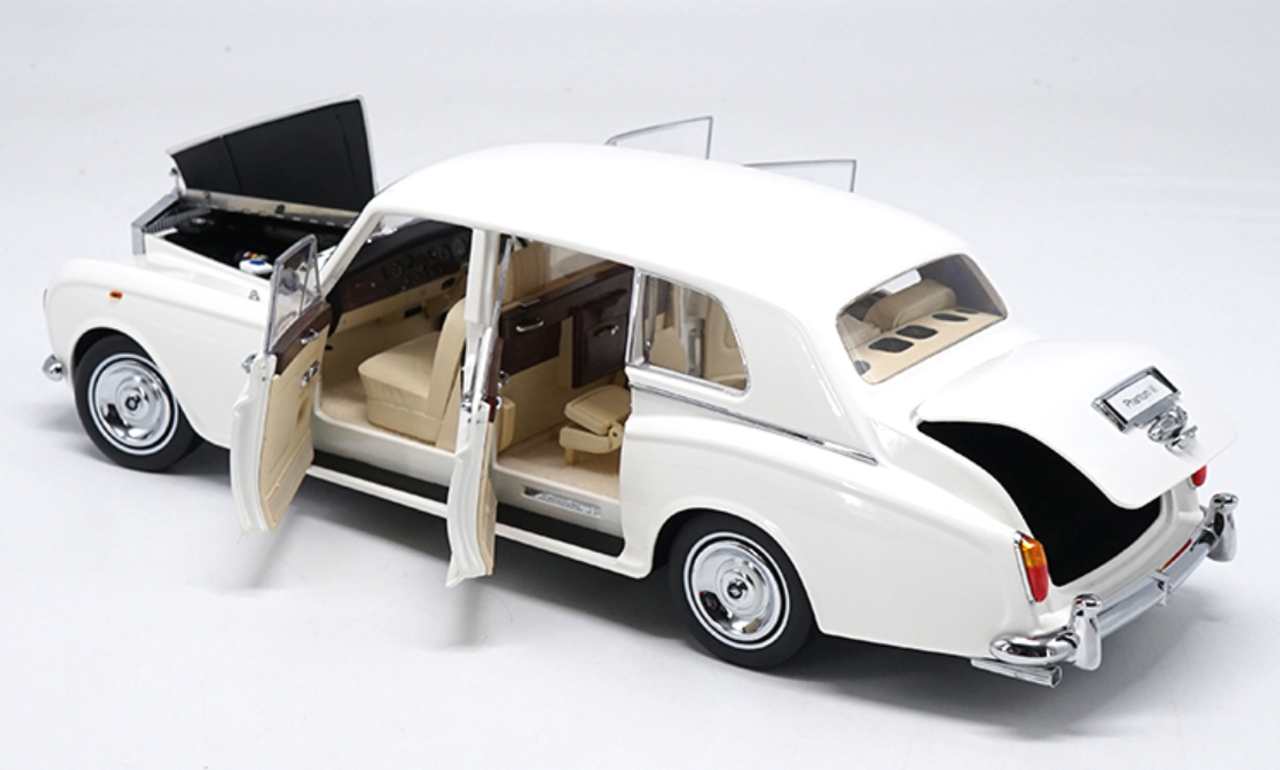Kyosho 1 18 Rolls Royce Phantom Vi Luxury Classic Car Die Cast Model White Diecast Toy Vehicles Cars Trucks Vans