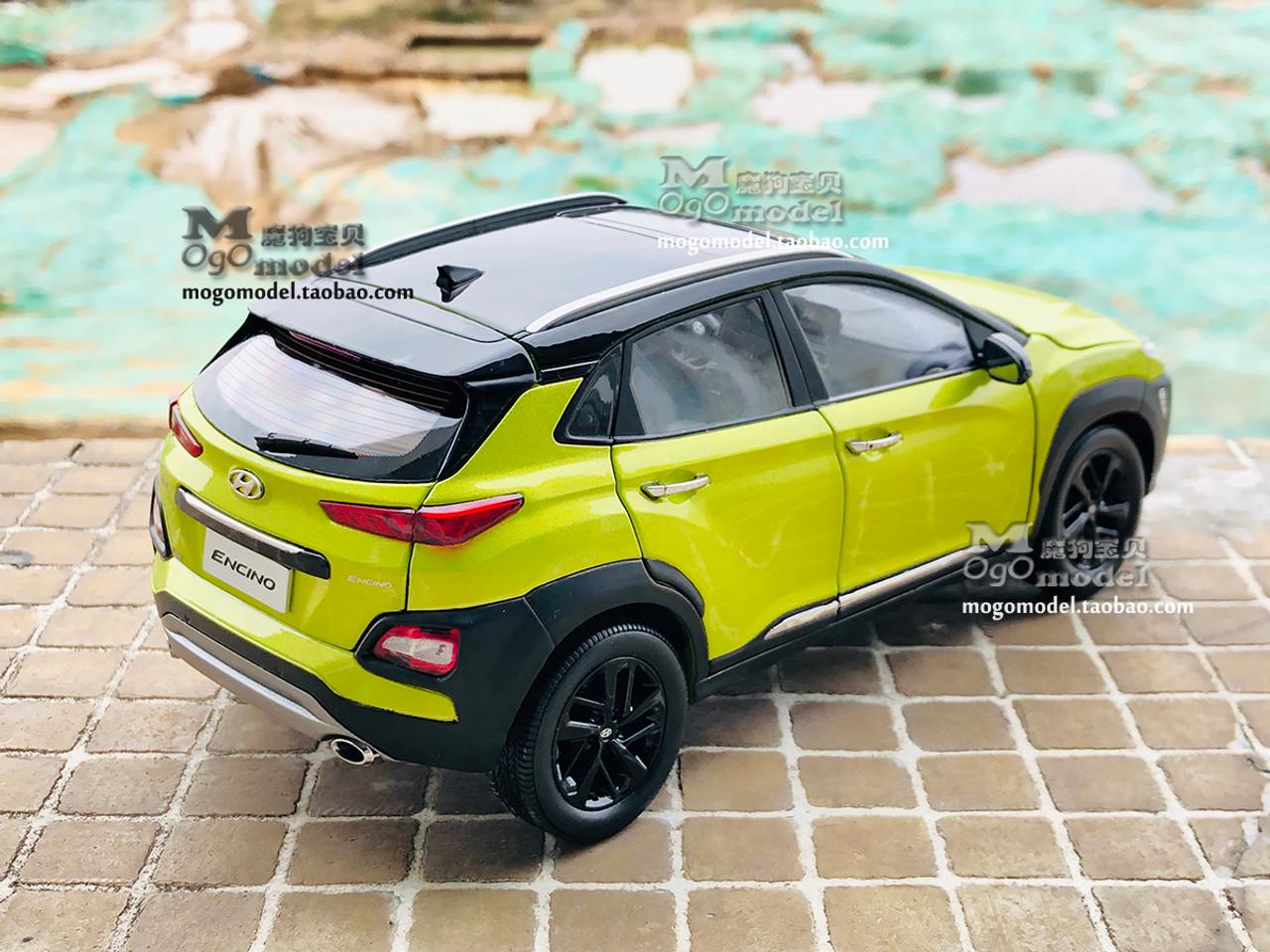 1/18 Dealer Edition Hyundai Encino / Kona (Yellow) Diecast Car Model