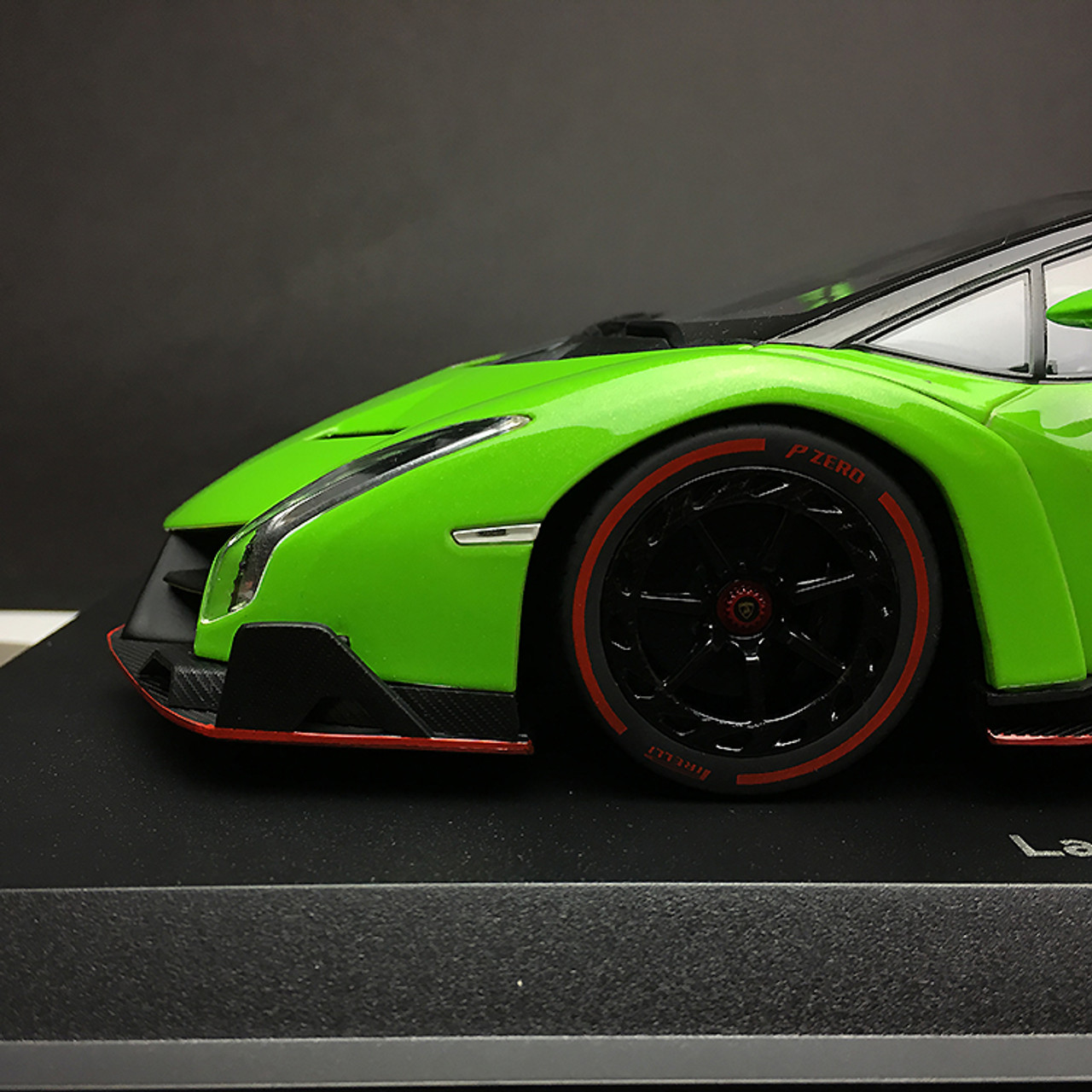 Contemporary Manufacture Green Red Line Gift Car Model Kyosho Lamborghini Veneno Roadster 1 18 Toys Hobbies