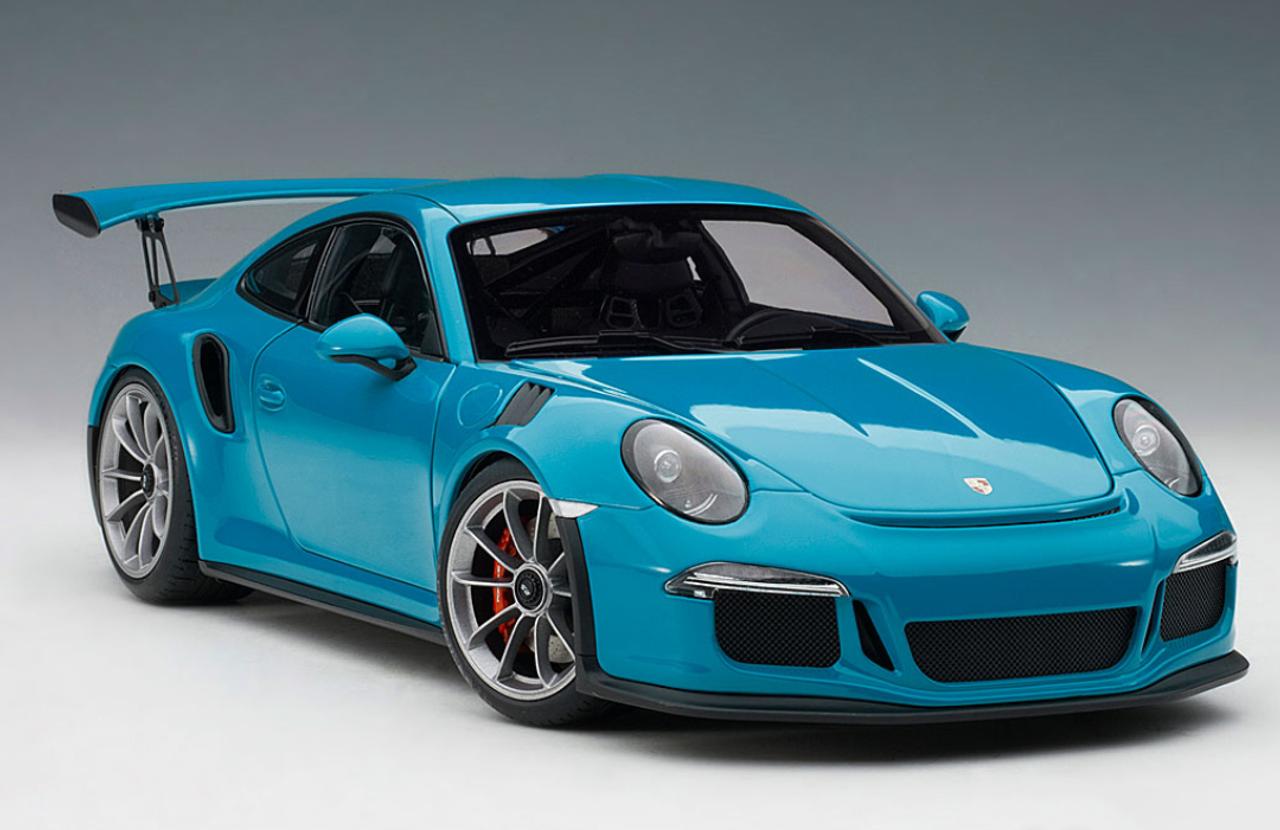 1/18 AUTOart PORSCHE 911(991) GT3 RS (MIAMI BLUE/DARK GREY WHEELS) Diecast  Car Model
