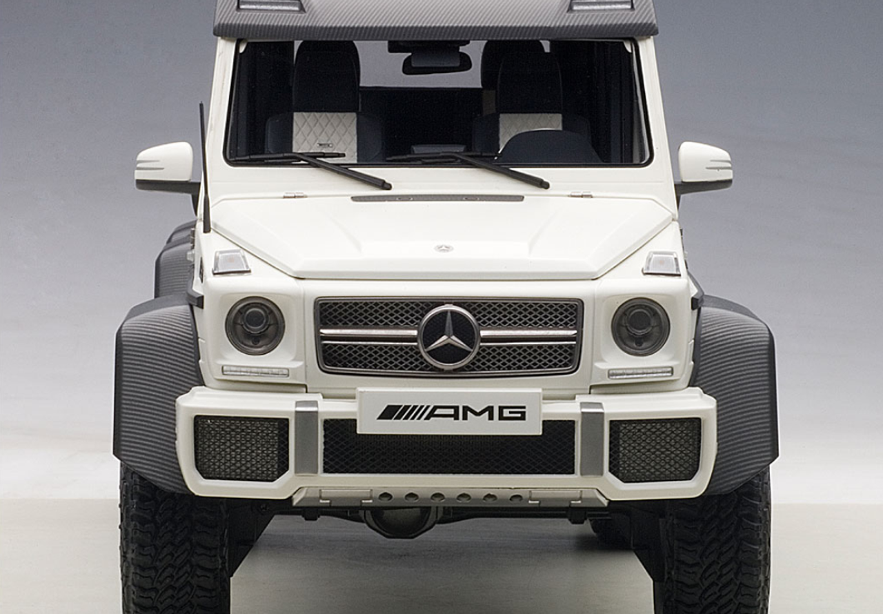 1 18 Autoart Mercedes Benz Mb G63 Amg 6x6 Matt White Diecast Car Model 76303 Livecarmodel Com