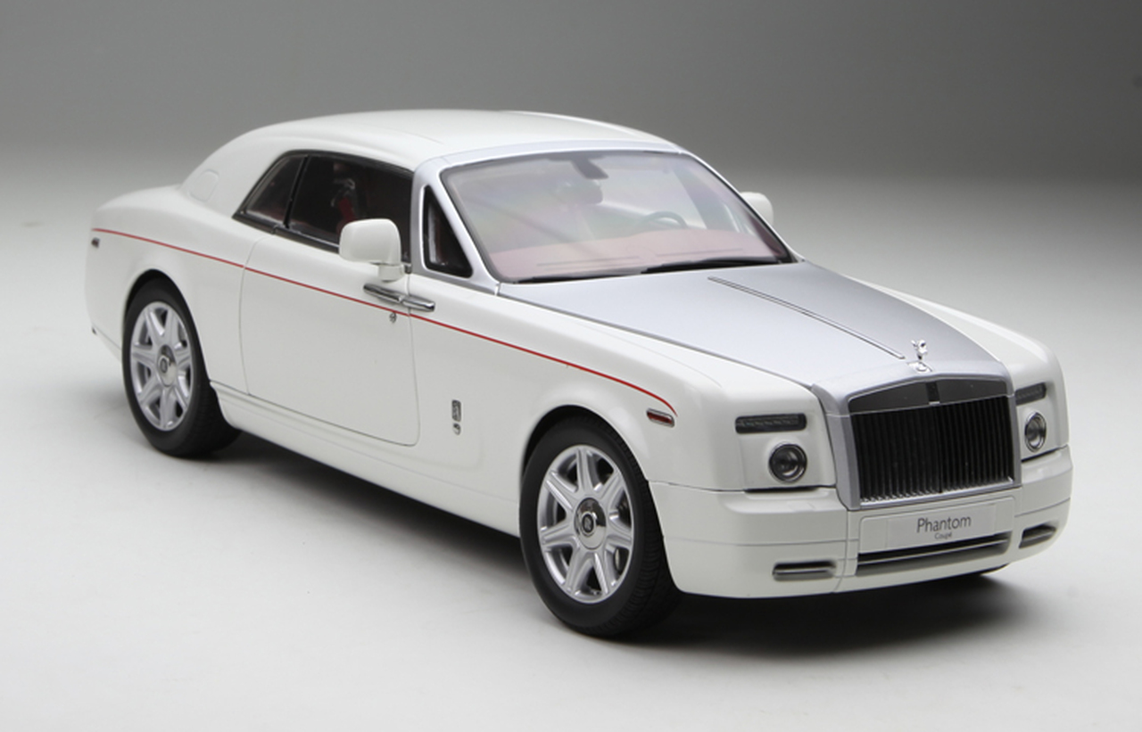 1 18 Kyosho Rolls Royce Phantom Coupe Hardtop White W Silver Hood Diecast Car Model Livecarmodel Com