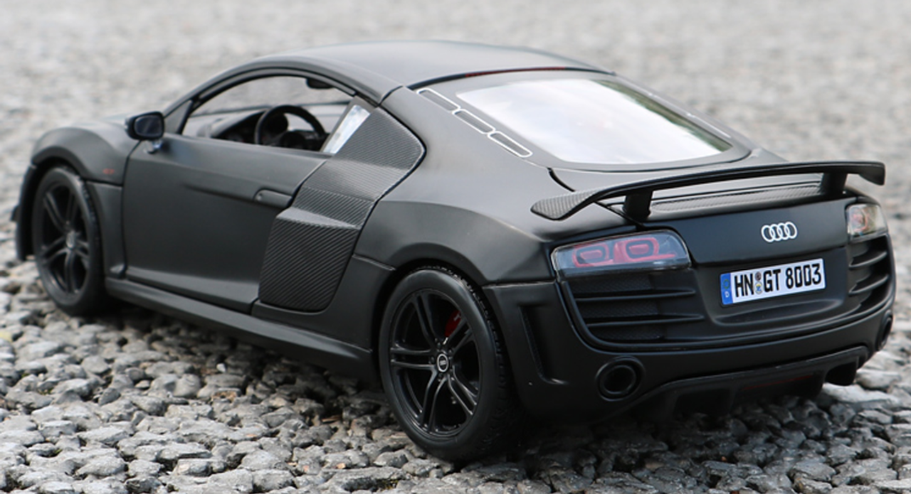 1 18 Maisto Premium Edition Audi R8 Gt Matte Black Diecast Car Model Livecarmodel Com