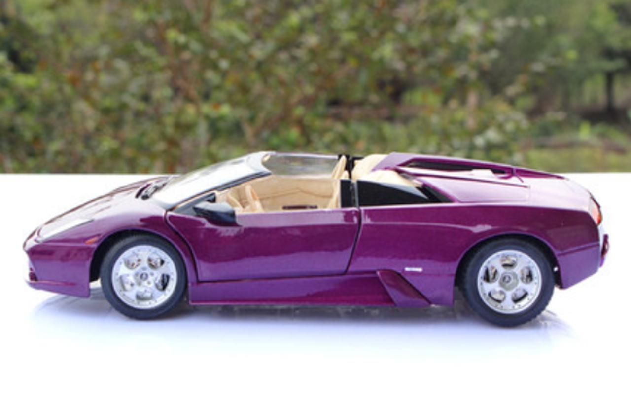 1 18 Maisto Lamborghini Murcielago Roadster Lp640 Purple Diecast