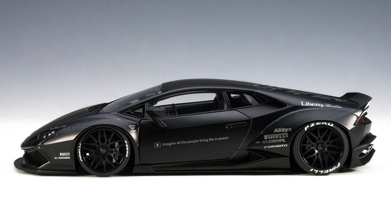1 18 Autoart Liberty Walk Lb Works Lamborghini Huracan Matt Black