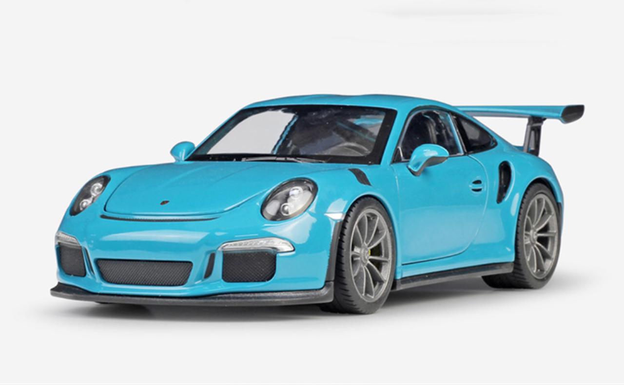 1 24 Welly Fx Porsche 911 Gt3rs Gt3 Rs Blue Diecast Car Model Livecarmodel Com