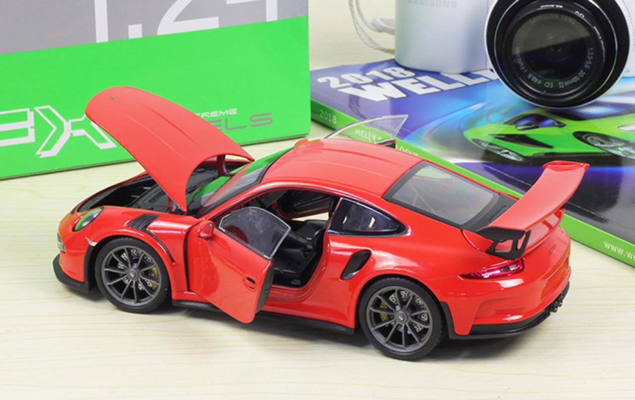 1 24 Welly Fx Porsche 911 Gt3rs Gt3 Rs Orange Red Diecast Car Model Livecarmodel Com