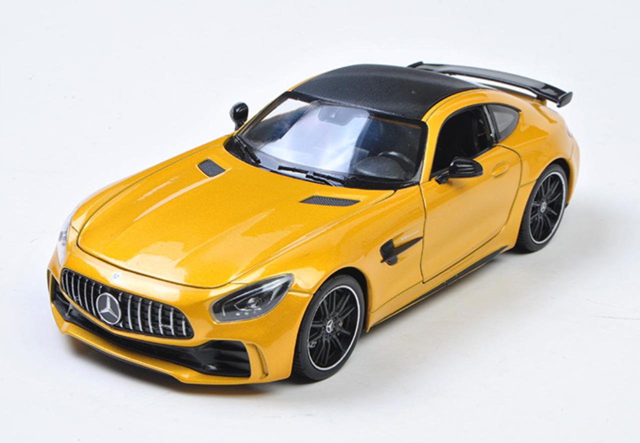 1 24 Welly Fx Mercedes Benz Mb Mercedes Amg Gtr Gt R Yellow Diecast Car Model