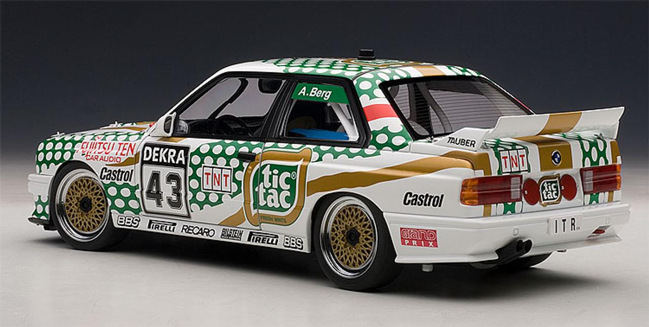 1/18 AUTOart 1991 BMW E30 M3 DTM #43 Diecast Car Model 89147