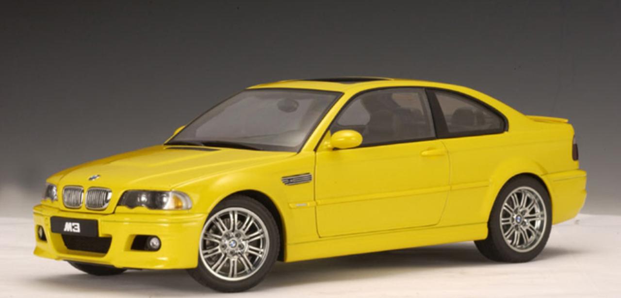 Rare 1 18 Autoart Bmw E46 M3 Yellow Diecast Car Model 70542