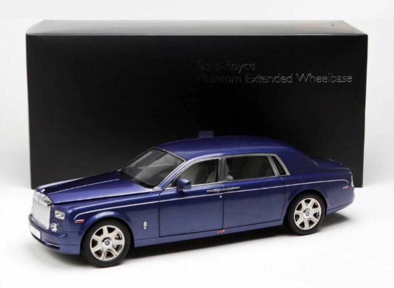 1/18 Kyosho Rolls-Royce Phantom EWB (Blue) Diecast Car Model