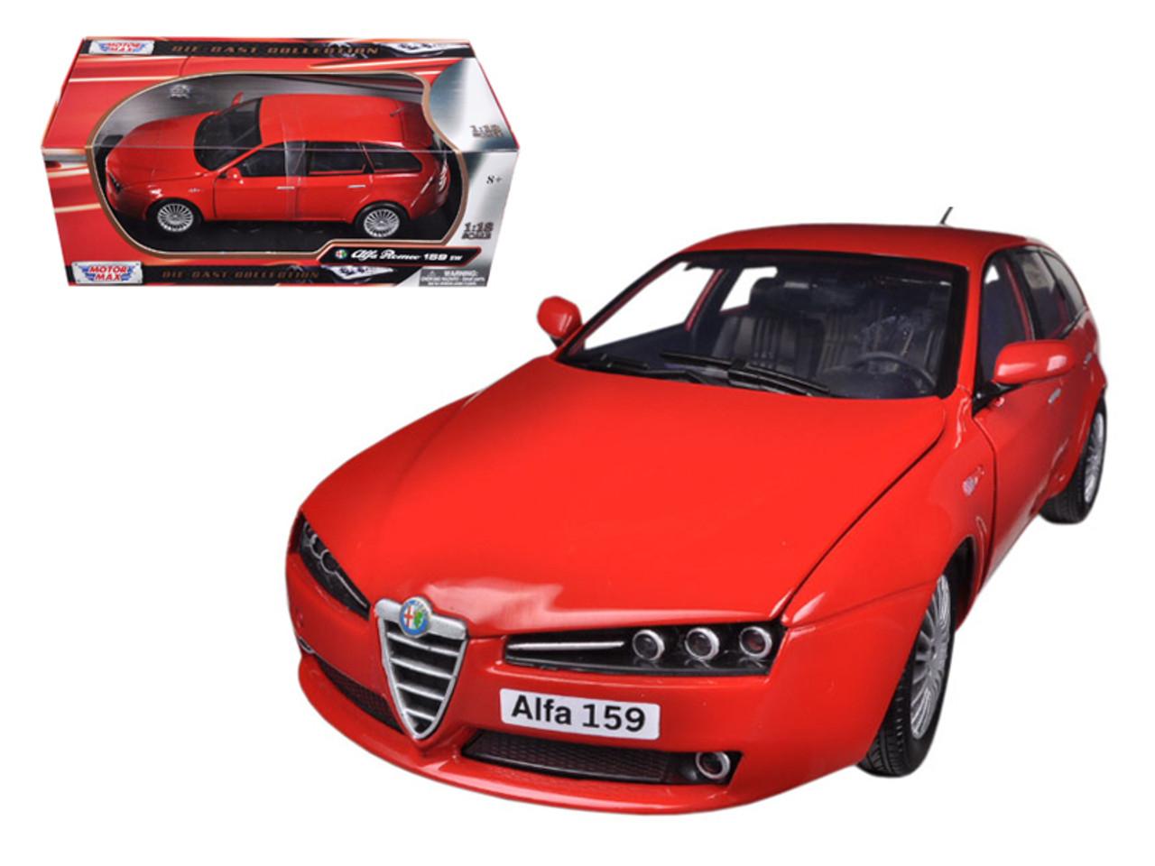 Alfa Romeo Models >> 1 18 Motormax Alfa Romeo 159 Sw Red Diecast Car Model