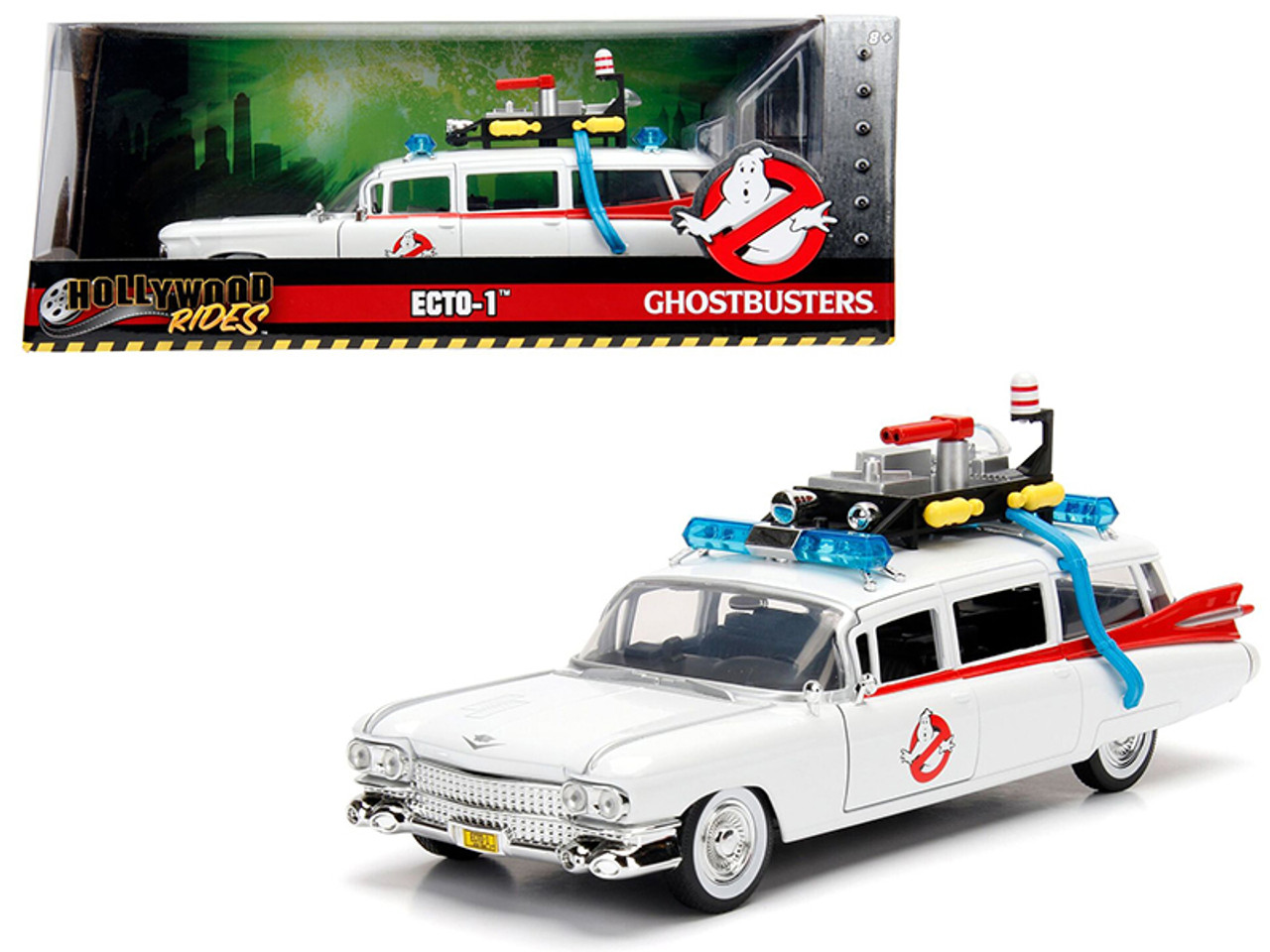 1 24 Jada 1959 Cadillac Ambulance Ecto 1 From Ghostbusters Movie