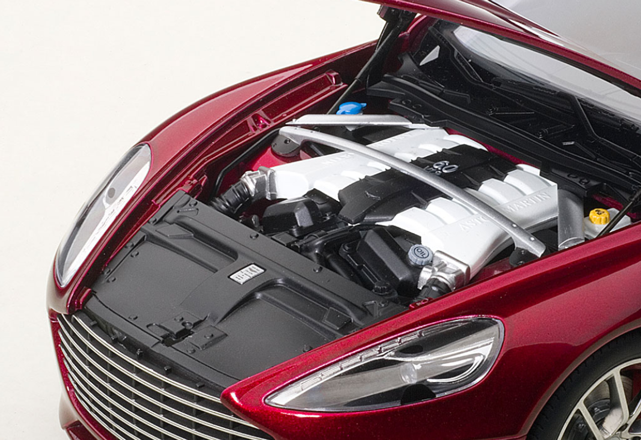 2015 Aston Martin Rapide S Diavolo Red 1 18 Diecast Model Car By Autoart 70257 Printhouses Pl