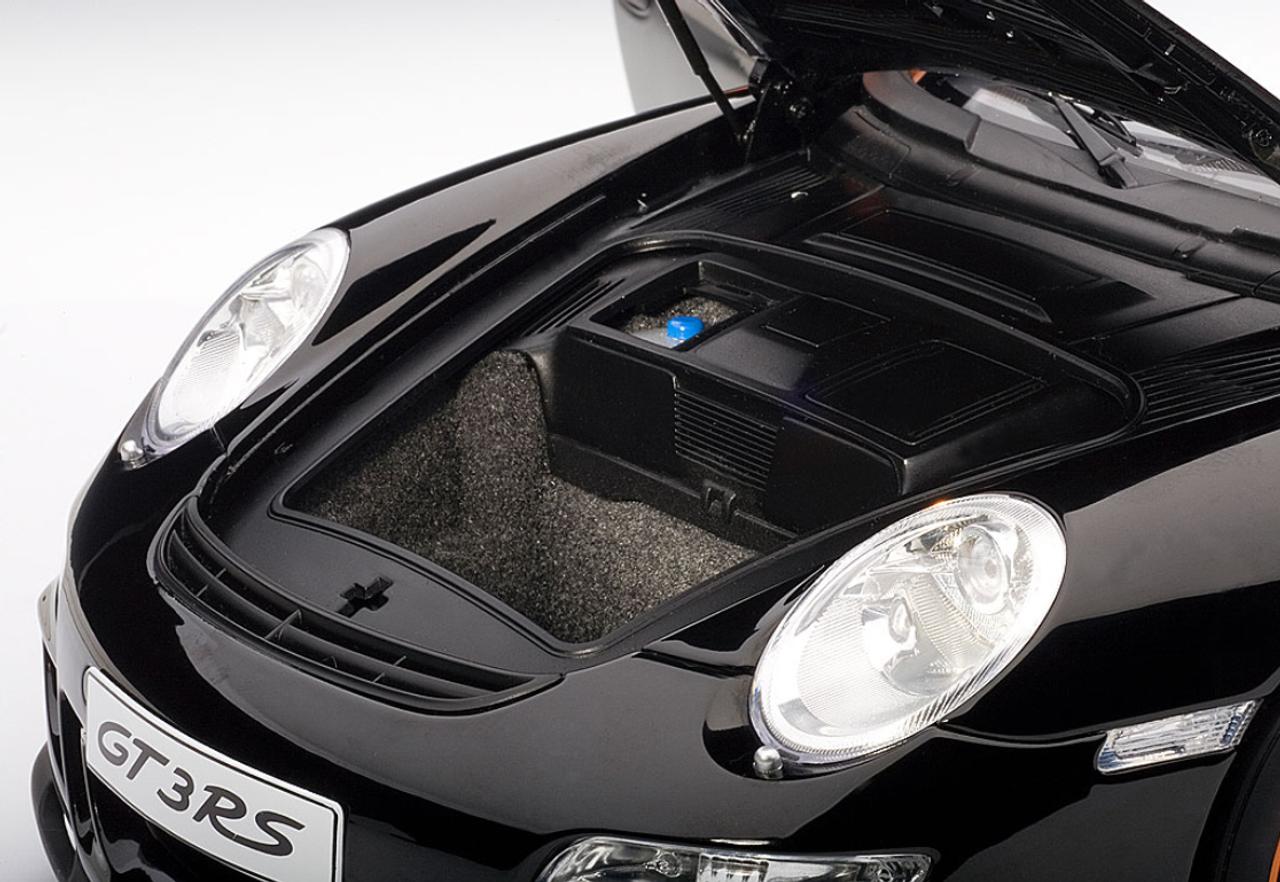 1/12 AUTOart PORSCHE 911 (997) GT3 RS - BLACK WITH ORANGE STRIPES Diecast  Car Model 12116