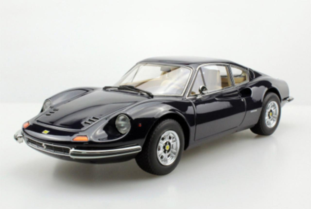 1 18 Top Marques Ferrari Dino Black Resin Car Model Livecarmodel Com
