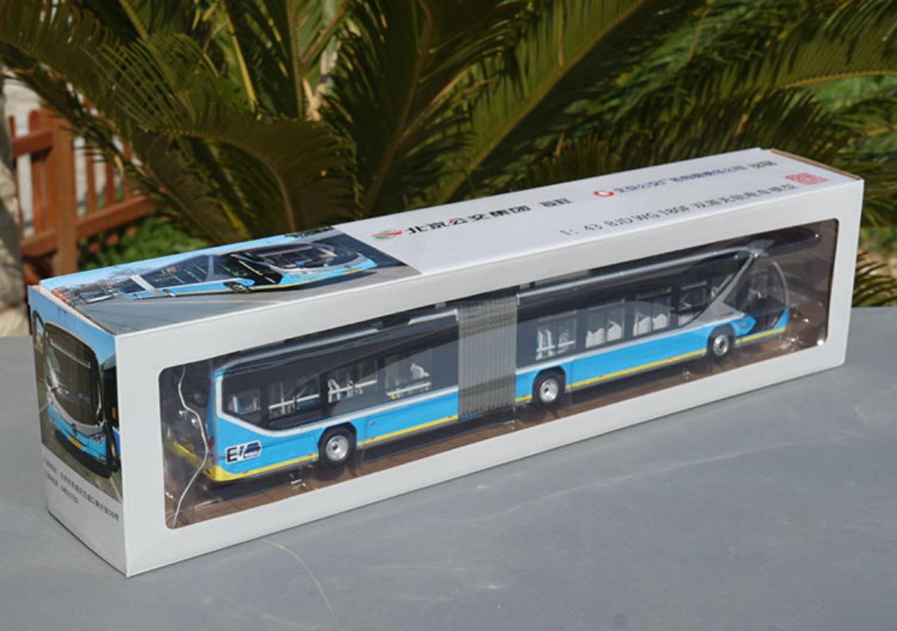 1/43 Foton BJD WG180F Public Transportation Trolley BRT Bus w/ Headlights & Interior lights Diecast Car Model